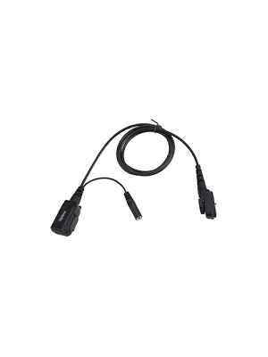 PD7/9 PTT & MIC Stereo Cable with 3.5mm Audio Jack (for use with receive-only earpieces)