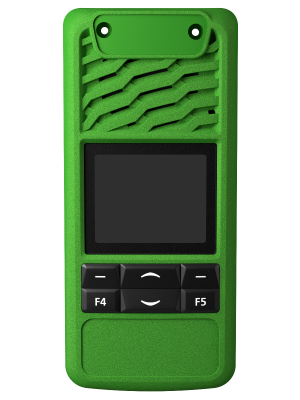 TP3000 4 Key Green Front Panel - Tait Fitted